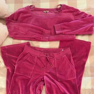 Used Women's, Juicy Couture, Velvet, Suit Large